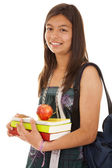 Teenager ready to go back to school — Stock Photo