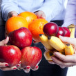 Stock Photo: Healthy fruit choice
