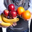 Healthy fruit choice — Stockfoto