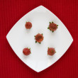 Strawberry in a plate — Stock Photo