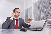 Mature businessman working — Stock Photo