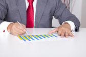 Profitto bussiness in un grafico a barre — Foto Stock