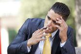 Businessman career problems — Stock Photo