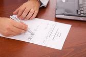 Analysing a flowchart document — Stock Photo