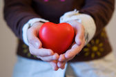 A children giving is love — Stock Photo