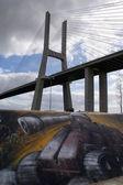 Canon under the bridge — Stock Photo