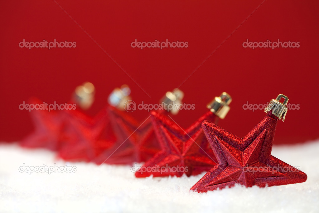 Christmas ornament background (very shallow deep) — Stock Photo #8669008