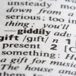 Gift Word — Stock Photo