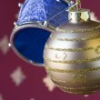 Christmas ball and drum background (selective and soft focus) — Stock Photo #8670809