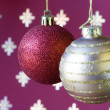 Christmas ball background (selective a soft focus) — Foto Stock