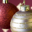 Christmas ball background (selective and soft focus) — Foto de Stock