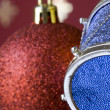 Stock Photo: Christmas ball and drum (selective and soft focus)