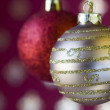 Christmas ball background (selective and soft focus) — Stock Photo #8670876