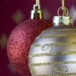 Christmas ball background (selective and soft focus) — Stock Photo #8670894