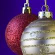 Christmas ball background (selective and soft focus) — Stock Photo #8670899