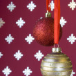 Christmas ball background (selective a soft focus) — Stock fotografie
