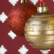 Christmas ball background (selective and soft focus) — Stockfoto