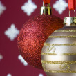 Christmas ball background (selective a soft focus) - Stock fotografie