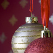 Christmas ball background (selective and soft focus) — Stock Photo