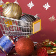 Shopping for Christmas — Foto de Stock