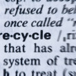 Royalty-Free Stock Photo: Recycle Word in the dictionary