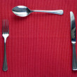 Fork, knife and spoon - Stock Photo