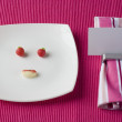 Funny face plate — Stock Photo