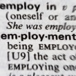 Employment word — Stock Photo