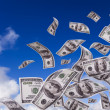 Money falling from the sky — Stock Photo #8675988