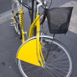 Stock Photo: Yellow bike