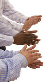 Multiracial hands — Stock Photo