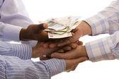 получение денег — Стоковое фото
