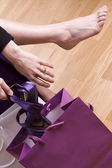 Women shopping shoes — Stock Photo