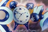 Graffiti Clock — Stock Photo
