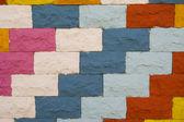 Colorful wall pattern — Stock Photo
