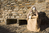 Catholic statue outdoor — Stock Photo