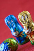 Easter rabbits — 图库照片