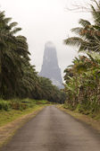 Sao Tome big rock — Stock Photo