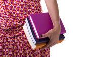 Carring books to school — Fotografia Stock