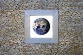 Earth Window (asia) — Stock Photo