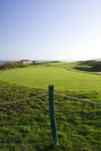 Golf course next to the ocean — Foto Stock