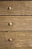 Nailed wood plank — Stock Photo