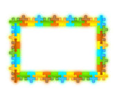 Color, glossy, brilliant and jazzy puzzle frame 12 x 8 — Stock Photo
