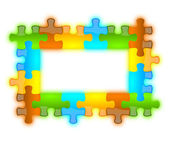 Color, glossy, brilliant and jazzy puzzle frame 6 x 4 — Stock Photo