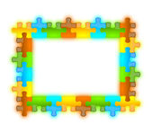 Color, glossy, brilliant and jazzy puzzle frame 6 x 8 — Stock Photo