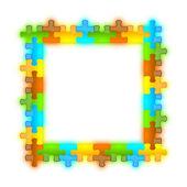 Couleur, brillant, brillant et jazzy puzzle cadre 8 x 8 — Photo