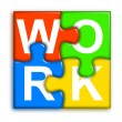 Stock Photo: Combined multi-color puzzle - work concept 2