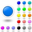 Stock Photo: Web colored buttons with shadow