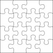Stock Photo: Puzzle background template 4x4