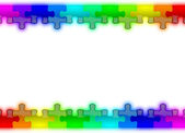 Color and glossy puzzle rainbow background — Stock Photo